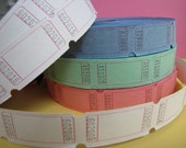 Carnival, Fair, Admission Tickets Multipack 80, Bright colours, pink, lime, blueberry, white, Blank