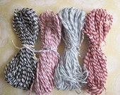 Bakers Twine Cotton Assorted Colours, Packaging, Wrapping, Craft, Scrapbooking, Black, Blue, Pink, Red 40m