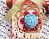 Summer Blooms Hello Friend Large Shipping Gift Tag, Best Friend, Valentine