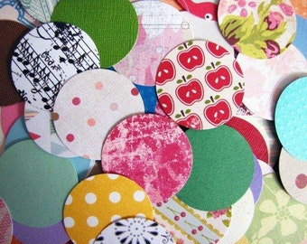Round Circle Punchies Pk 80 Patterned Paper and Cardstock, great for buntings, embellishments