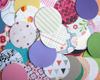 Circle Punchies Pk 85 Patterned Paper and Cardstock, great for buntings, embellishments, invitations, party decor