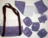 Lavender Doll Cloth Diaper Set -  US Shipping Included