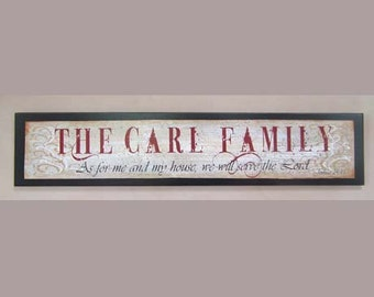 As for me and my house custom family name sign