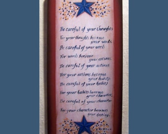 Character Plaque, art print on wood sign by Laurie Sherrell