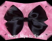 A Classic Black Satin Hair Bow Clip --Great Price-- Look in Store for other Fabulous Deals.