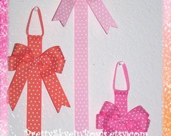 Hair Bow Holder with a Detachable Tails Down Hair Bow Clip