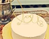 Love Wedding Cake Topper Lemon Yellow Whimsical Bridal Shower Engagement Elegant Classic Garden Farm Country Chic