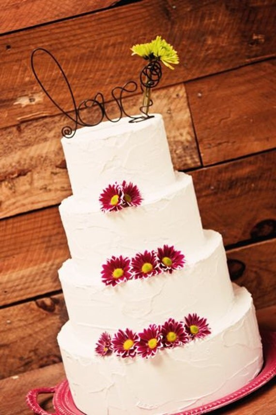 wedding cake toppers fresh flowers items similar to fresh flower wedding cake topper 26470