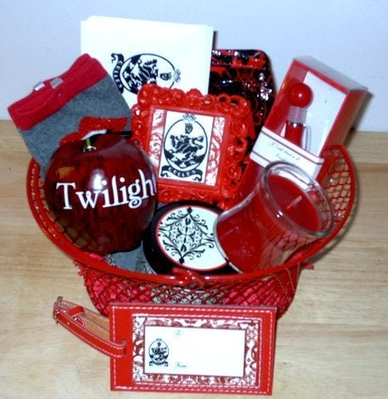 Twilight Saga Edward Cullen Themed Gift Basket Vampire Socks