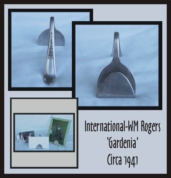 SILVERWARE Business Card / Photo Holder - GARDENIA - Many Uses