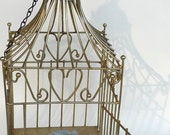 vintage  bird cage decor  fantasy golden decor