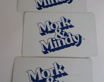 mork and mindy vintage card game parts robin williams