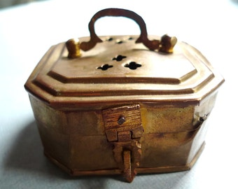 brass cricket box  from india