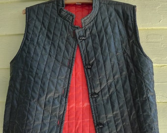 vintage vest black red  1960s mod wear