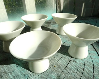 sci fi cups egg stand little bowl  egg bowls 1940s