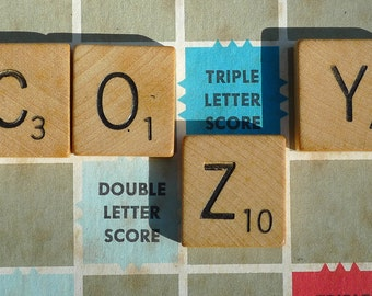 vintage Scrabble game made in usa nostaglia