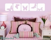 Butterfly Squares Vinyl Wall Art Graphics Decals Stickers 980