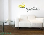 Wall Decals Branch with Bird Vinyl Wall Art Graphic Sticker Decal 1109