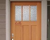 hello fancy Front Door Decal - Porch Decals - Vinyl Lettering - Wall Decals - Door Decals - Vinyl Wall Art Graphic Stickers Decals 1239