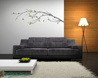 Fall Branch with Birds Vinyl Wall Art Graphics Decals Stickers 931
