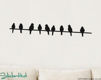 Birds on a Wire Vinyl Wall Art Graphics Decals Stickers 793