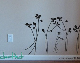 Whispering Flowers Sticky Vinyl Wall Stickers Decals Graphics 575