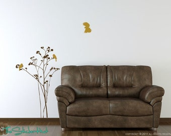 Tall Flowers Birds Vinyl Wall Art Graphics Decals Stickers 1066