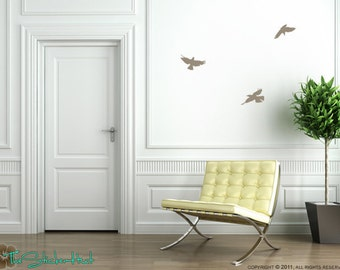 3 Crows Flying Birds Wall Art Graphics Decals Stickers 1231