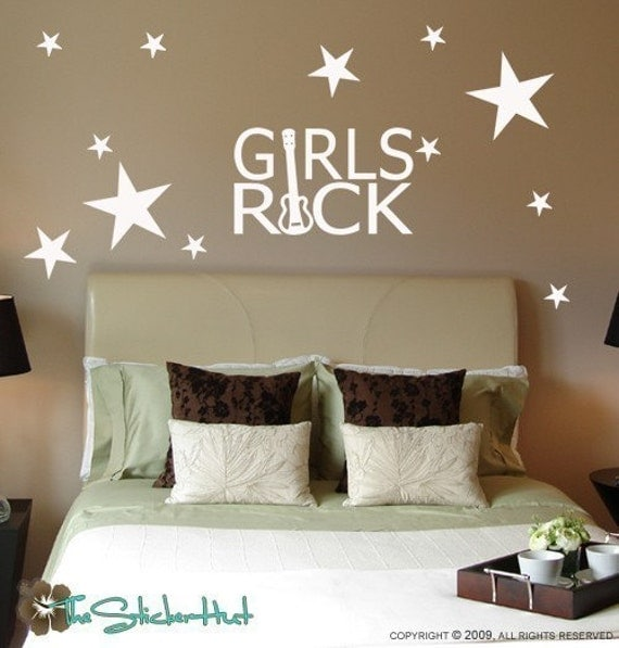 Items Similar To Girls Rock Guitar Star Girls Bedroom
