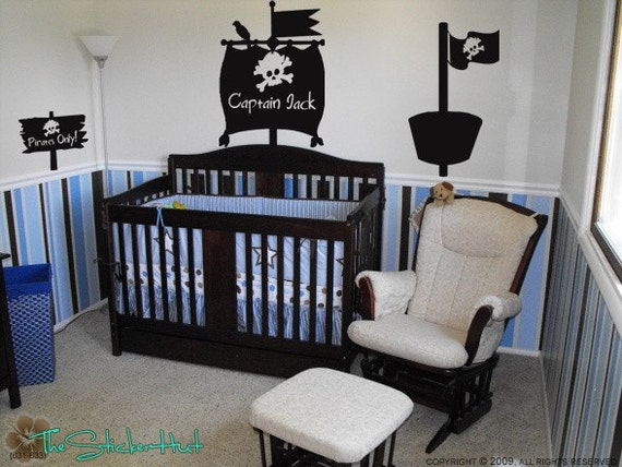 Pirate Room Kit Vinyl Wall Stickers Decals Boys Bedroom