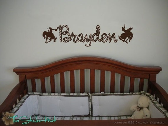 Cowboys With Your Rope Name Western Decor Baby Nursery
