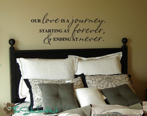 Our Journey Quotes: Our Love Is A Journey Wall Decals Vinyl Lettering Home