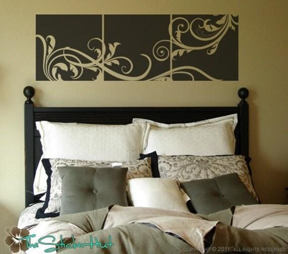 Floral Panels Blocks Tiles Squares Wallpaper Vinyl Wall Art Graphics Decals Stickers 1097