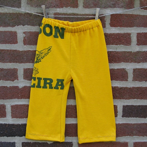edison fareira owls upcycled / recycled shorTEEs kung-fu pants 18-24 months