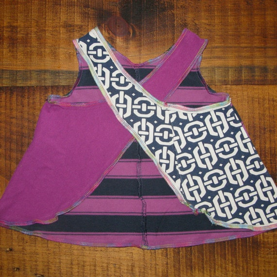 scrappy girl upcycled / recycled shorTEEs pinafore dress 6-12 months