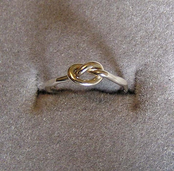 Sterling Silver Love Knot Ring Made in Sizes 3 to  size 10  Free shipping in the USA  free surprise ring with order