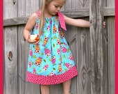 Custom Boutique On A Whim Owls Pillowcase Dress  --  3/6 months - 4T