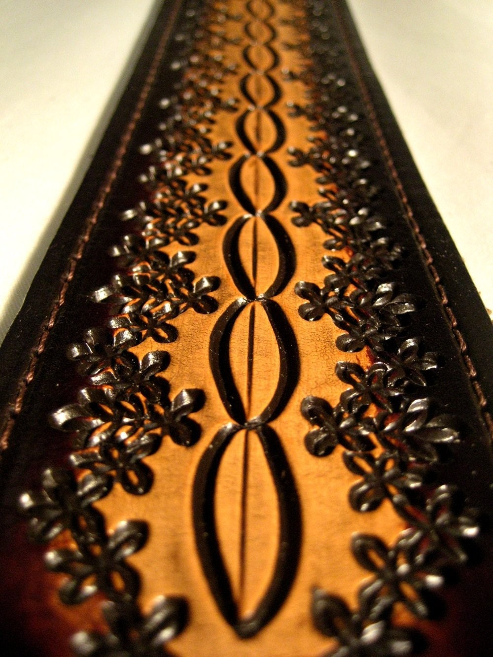 Hand Tooled Leather Guitar Strap Hot Seller Pattern