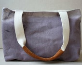 plum hand dip dyed canvas tote