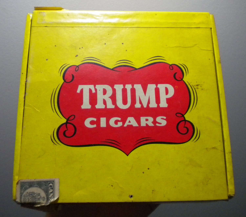 Sale 1940s Trump 5 Cent Cigar Box