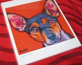RAT TERRIER Dog 8x10 Signed Art Print from a Painting by Lynn Culp
