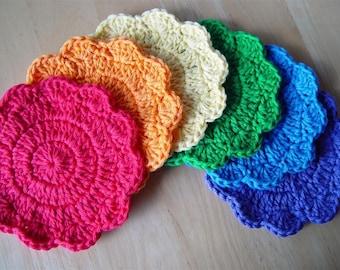 PDF Crochet Pattern - Simple Little Coasters