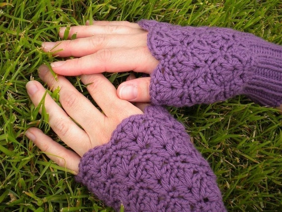 PDF Crochet and Knit Pattern - Little Lacey Mitts