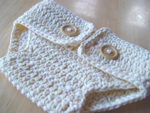 PDF Crochet Pattern - Dapper Diaper Cover