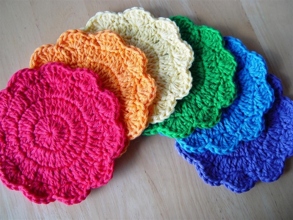 Crochet Patterns Etsy : PDF Crochet Pattern Simple Little Coasters by UnravelMe on Etsy