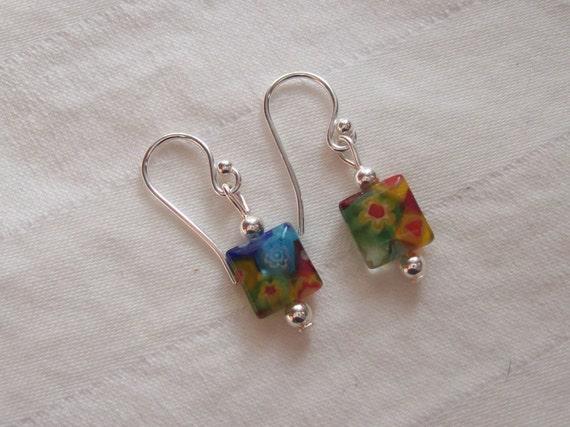 millefiori candy earring