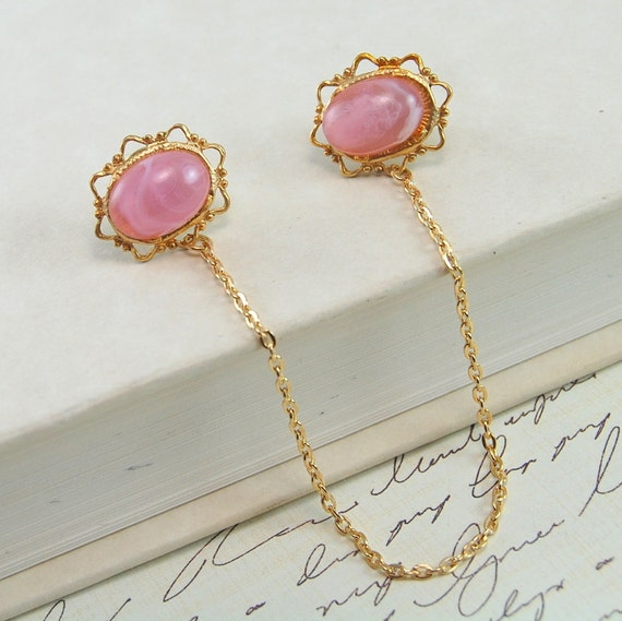 Sweater Clips in Pink and Gold
