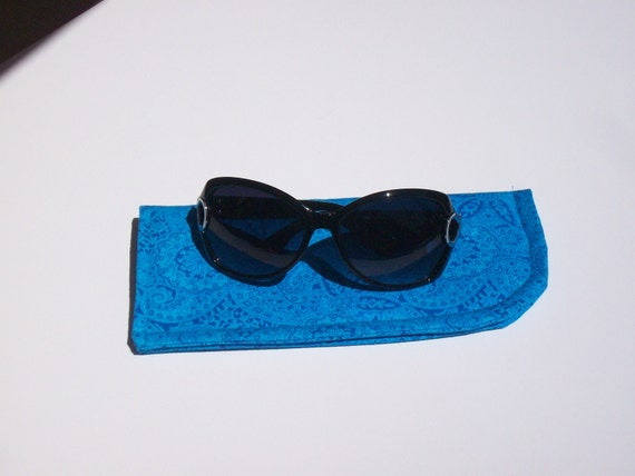 Cerulean Blue or Black with Bird Slide in Sunglass Cases You Choose One