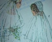 Vintage Simplicity 1971 Bridal Veil Headpieces  No 9826 Unused