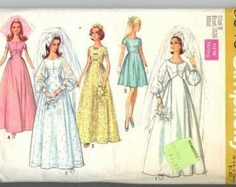 Vintage Simplicity 1969 Wedding Dress Pattern  8640 Size 8 S
